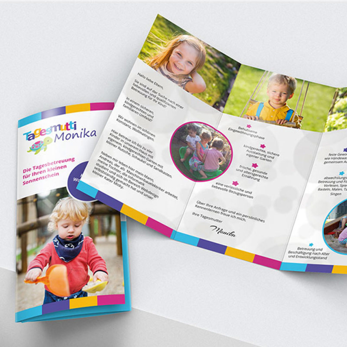 Flyer Design Tagesmutter Konstanz Jesana Media Werbeagentur Konstanz