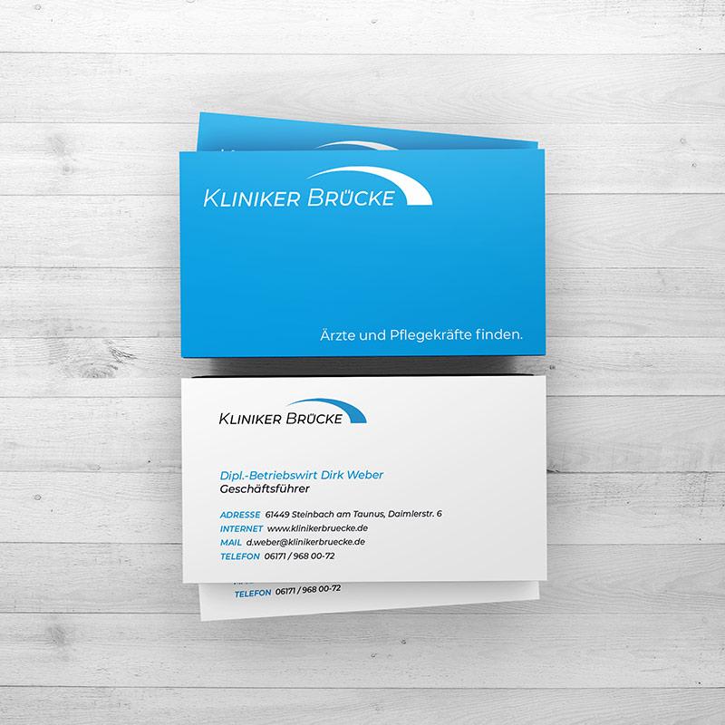 Visitenkarten Design Kliniker Brücke Jesana Media